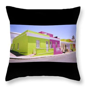 Bo Kaap Color Throw Pillow by Shaun Higson