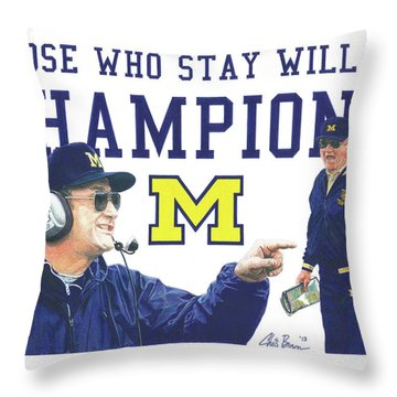 Bo Schembechler Throw Pillow