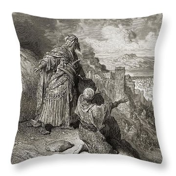 Boabdil The Last Arab King Leaves Throw Pillow
