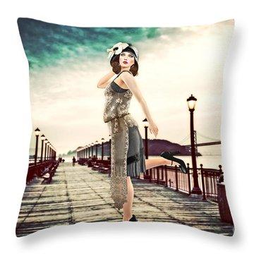 Boardwalk 1920 Throw Pillow