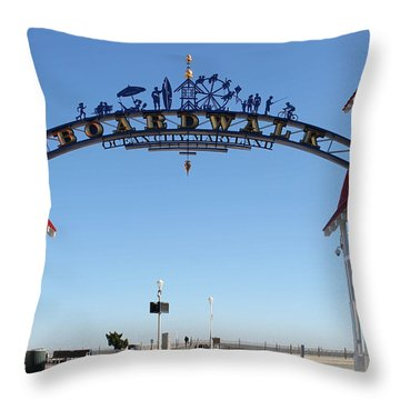 Boardwalk Arch At N Division St Throw Pillow by Robert Banach