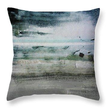 Boardwalk Blues 2- Art By Linda Woods Throw Pillow by Linda Woods