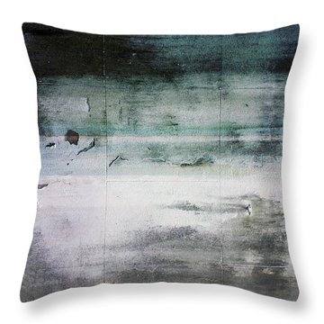 Boardwalk Blues- Art By Linda Woods Throw Pillow by Linda Woods
