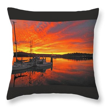 Boardwalk Brilliance With Fish Ring Throw Pillow