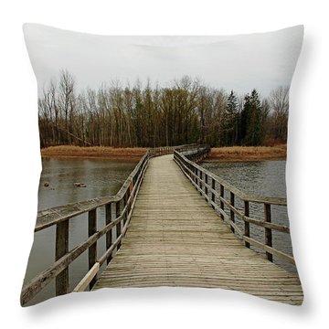 Boardwalk Throw Pillow by Debbie Oppermann