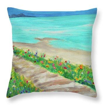 Boardwalk In Carmel Throw Pillow