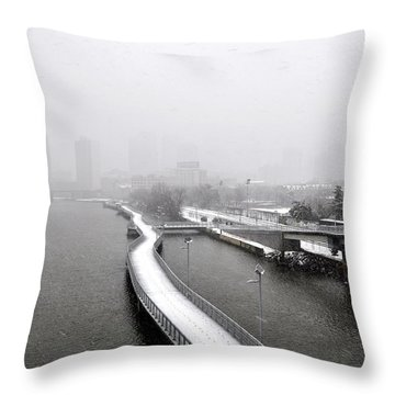 Boardwalk In Philadelphia Throw Pillow