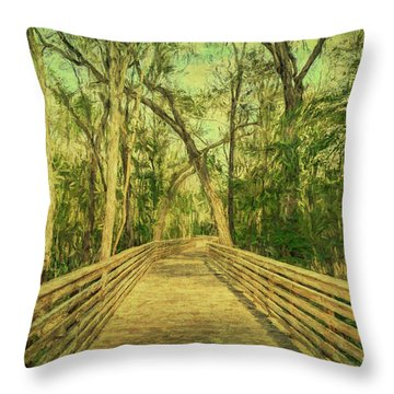 Throw Pillow featuring the photograph Boardwalk by Lewis Mann