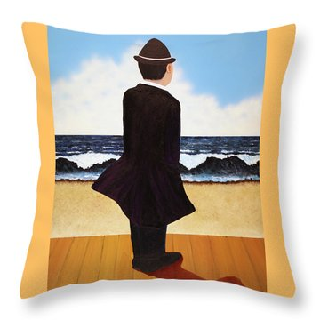 Boardwalk Man Throw Pillow