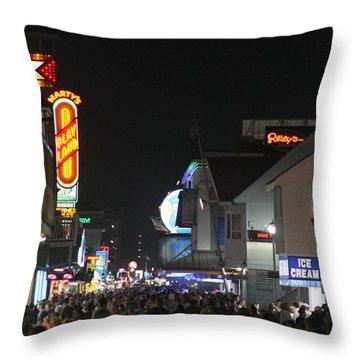 Boardwalk Night Lights Throw Pillow