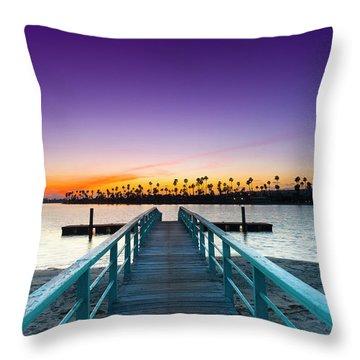 Boardwalk Of Enlightenment Throw Pillow