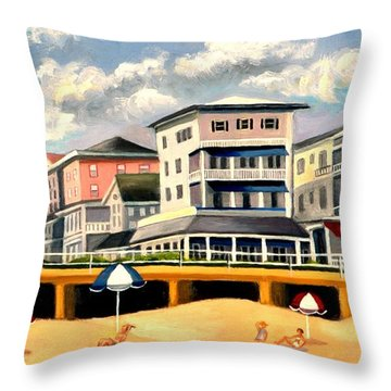 Boardwalk On The Jersey Shore Throw Pillow