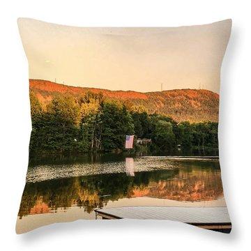 Boardwalk Sunset Throw Pillow