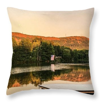 Boardwalk Sunset Throw Pillow