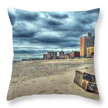 Boardwalk Throw Pillow by Svetlana Sewell