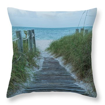 Throw Pillow featuring the photograph Boardwalk To The Beach by Kim Hojnacki