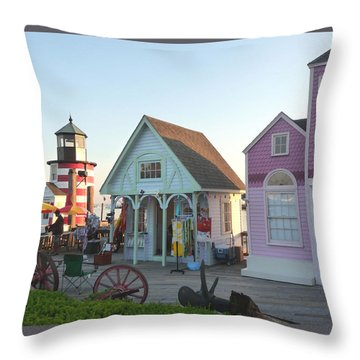 Boardwalk Vendors Throw Pillow