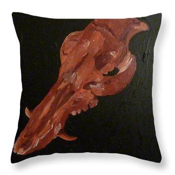 Boar's Skull No. 1 Throw Pillow