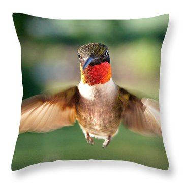 Boastful  Throw Pillow