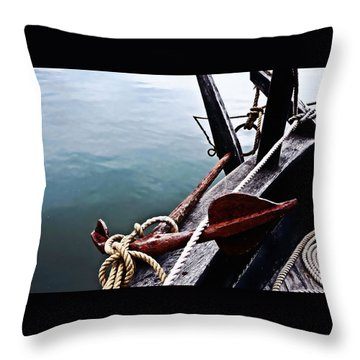 Boat Anchor Throw Pillow by Rena Trepanier