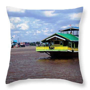 Boat Bring My House Throw Pillow