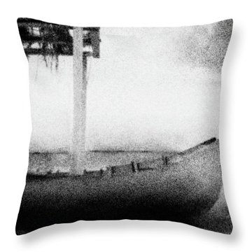 Boat Throw Pillow by Celso Bressan