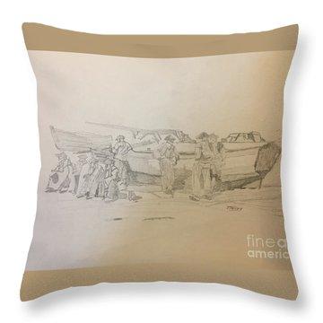 Boat Crew Throw Pillow