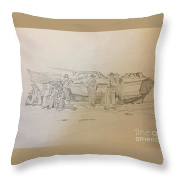 Boat Crew Throw Pillow