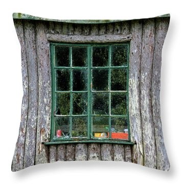 Boat House Window Throw Pillow