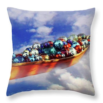 Boat In The Clouds Throw Pillow