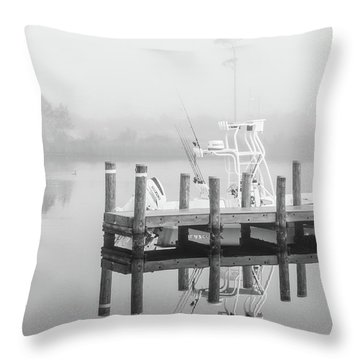 Throw Pillow featuring the photograph Boat In The Sounds Alabama  by John McGraw