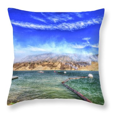 Boat Launch At Lake Roosevelt Throw Pillow