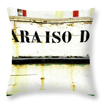Boat Letters Throw Pillow by Marion McCristall