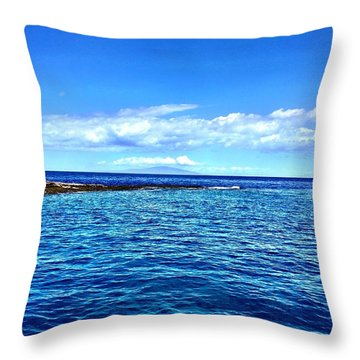 Boat Life 1 Throw Pillow by Michael Albright