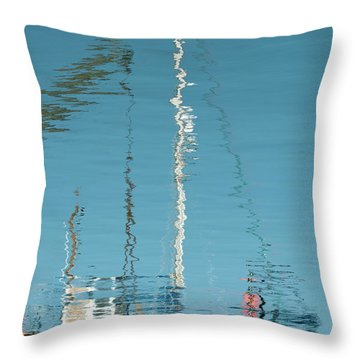 Throw Pillow featuring the photograph Boat Of Ripples by Wendy Wilton
