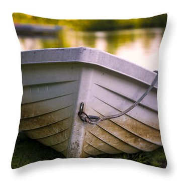 Boat On Land Throw Pillow