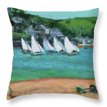 Boat Race Salcombe Throw Pillow