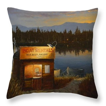 Boat Rentals Throw Pillow