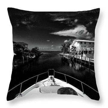 Boat Ride Throw Pillow by Kevin Cable