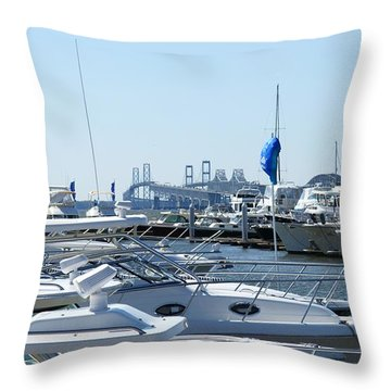 Boat Show On The Bay Throw Pillow