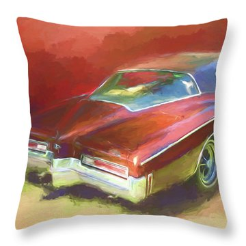 Boat Tail Buick Throw Pillow