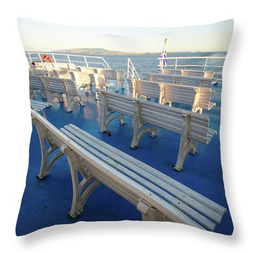 Boat Trip In The Azores Throw Pillow by Gaspar Avila