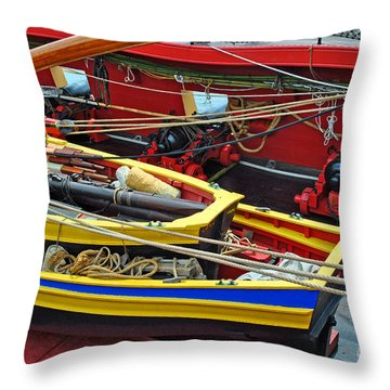 Boat Upon Boat Upon Ship Throw Pillow