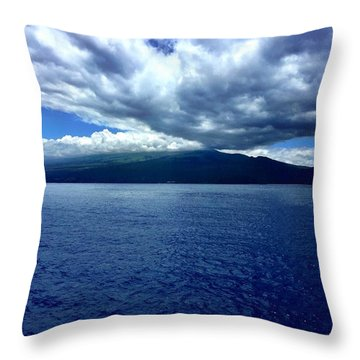 Boat View 2 Throw Pillow by Michael Albright