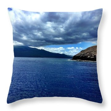 Boat View 3 Throw Pillow by Michael Albright