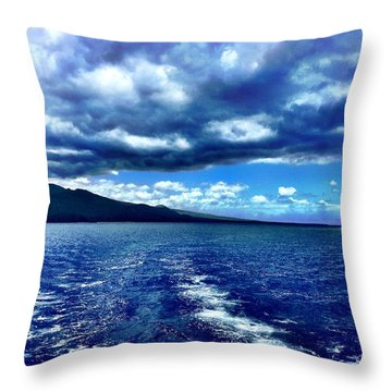 Boat View Throw Pillow by Michael Albright
