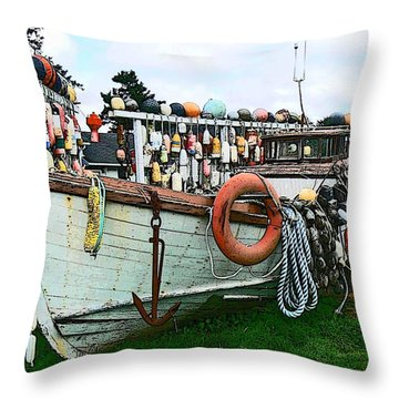 Boat Yard Throw Pillow