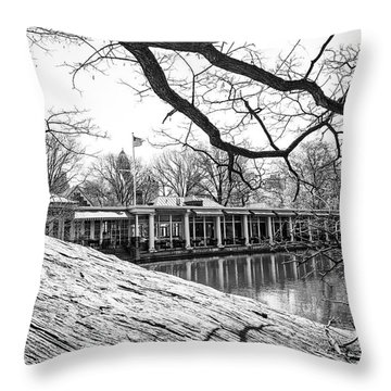 Boathouse Central Park Throw Pillow