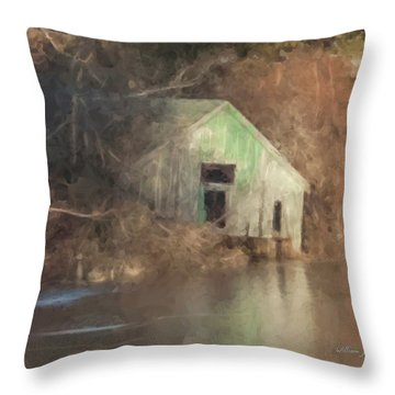 Boathouse On Solstice Throw Pillow