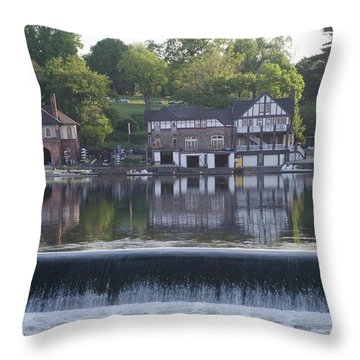 Throw Pillow featuring the photograph Boathouse Row In May by Bill Cannon